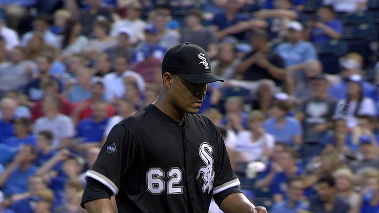 Quintana's solid start fades in eighth vs. Royals