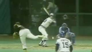 Bochte bats in the 1979 All-Star Game