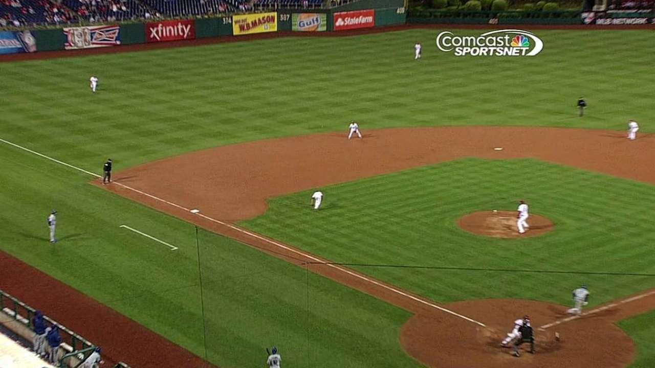 Hernandez debuts at third, Ruf starts in left field