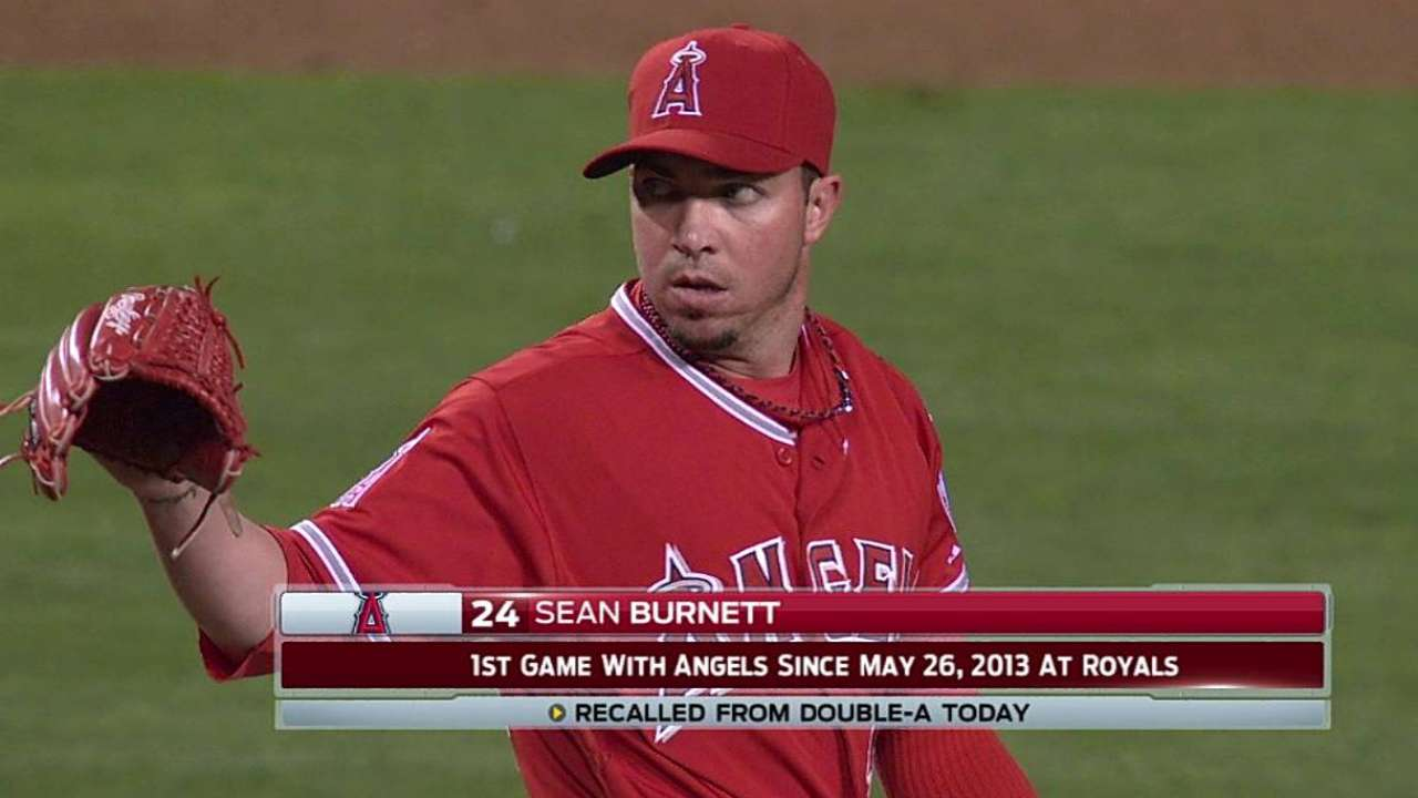Burnett makes long-awaited return to Angels