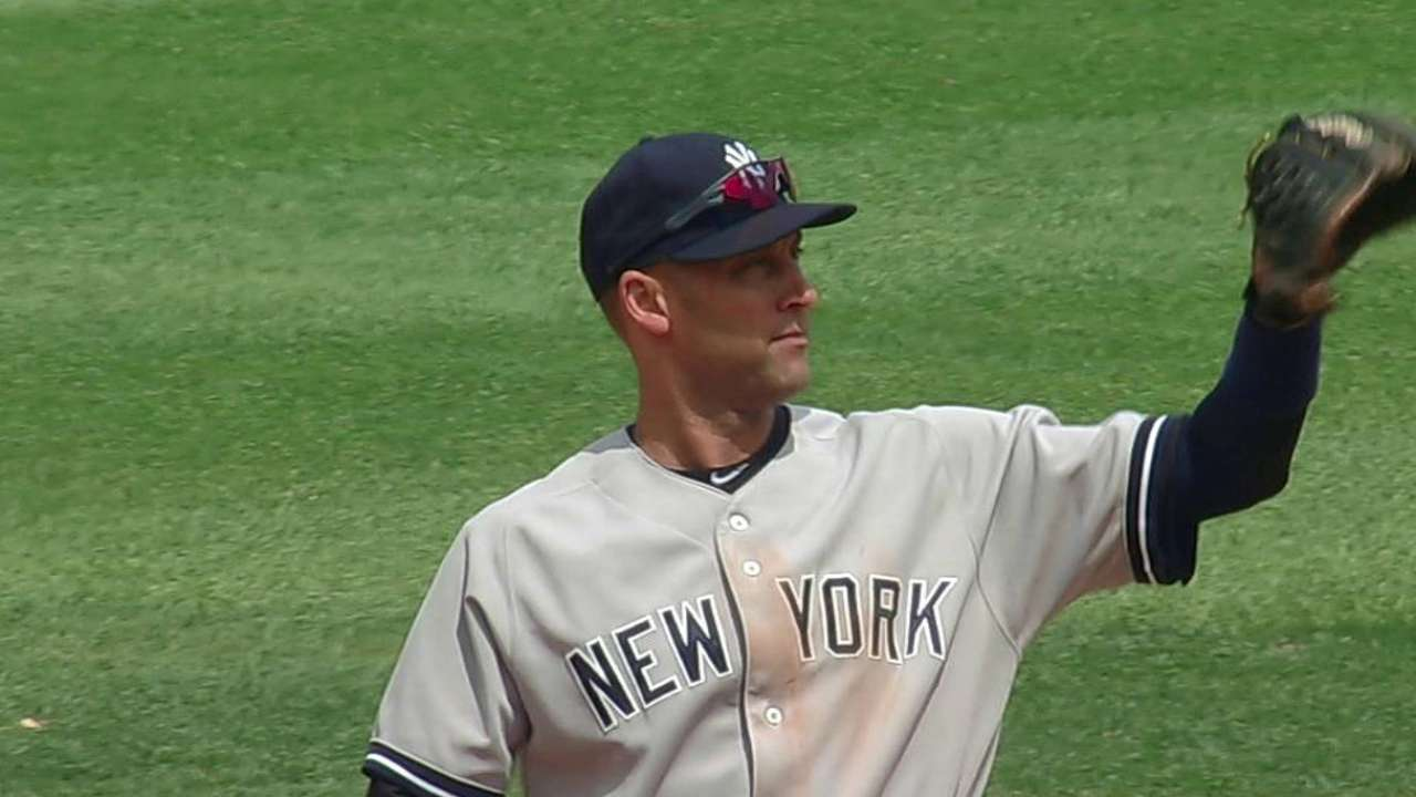 Jeter passes Aparicio for games played at shortstop