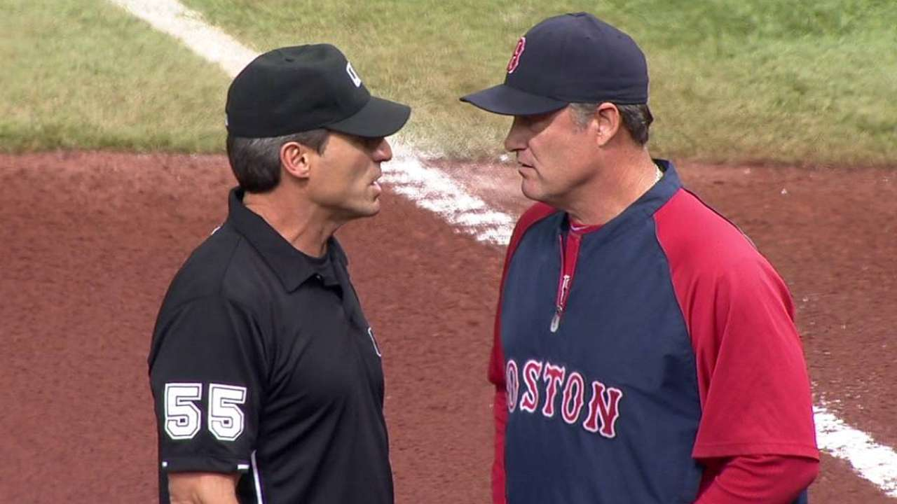 Call overturned as Red Sox win challenge
