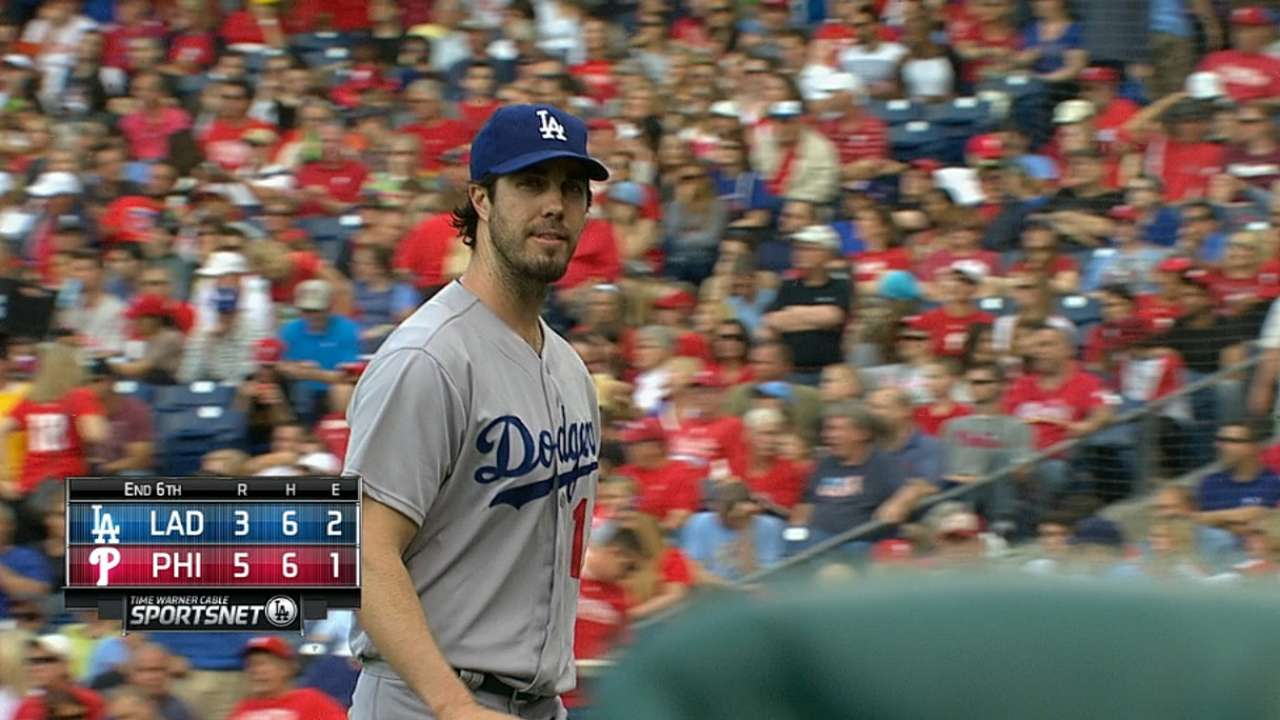 Dodgers can't get Haren off hook against Phillies