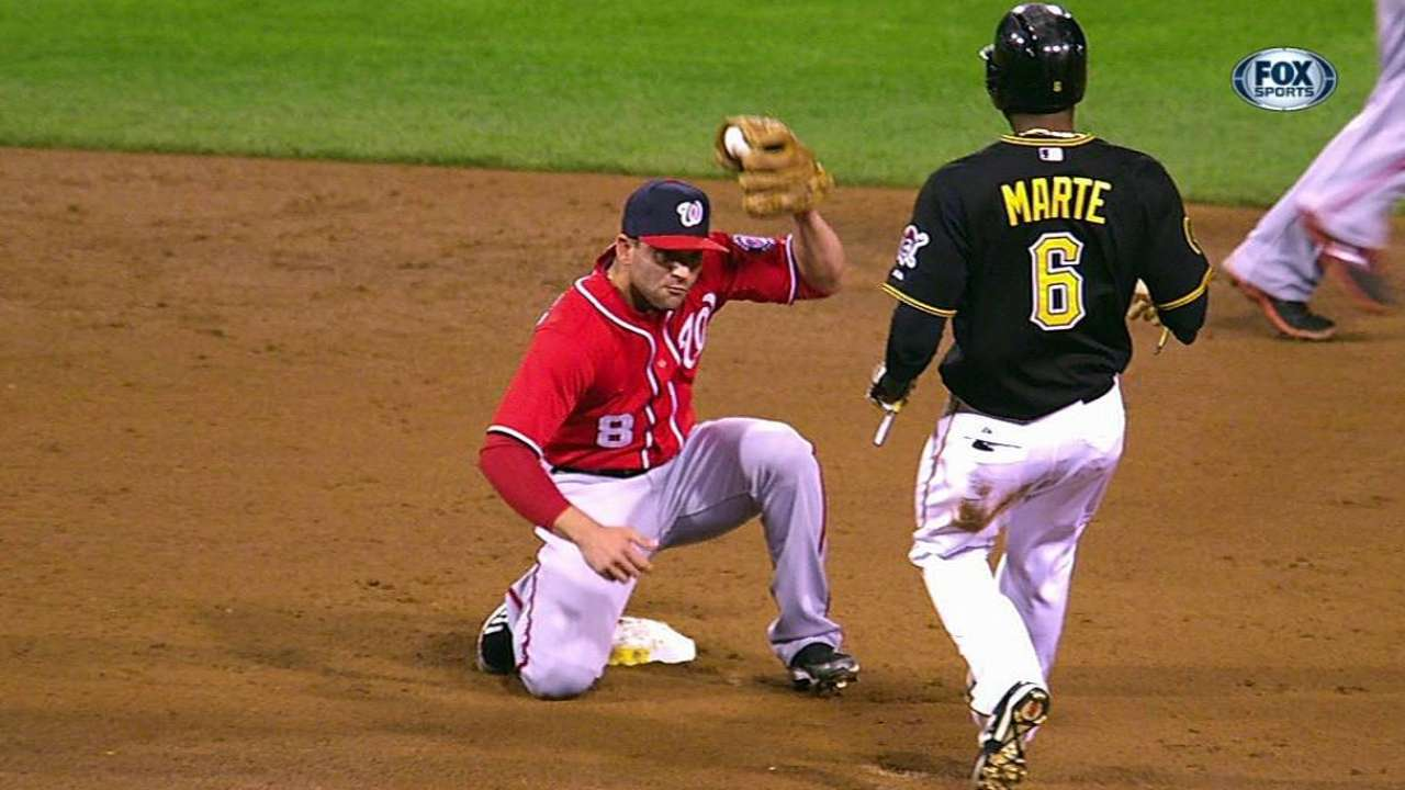 Pirates glad Marte's baserunning gaffe didn't cost win