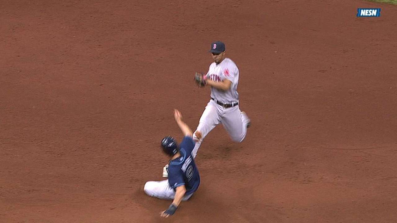 Red Sox win challenge, get call overturned