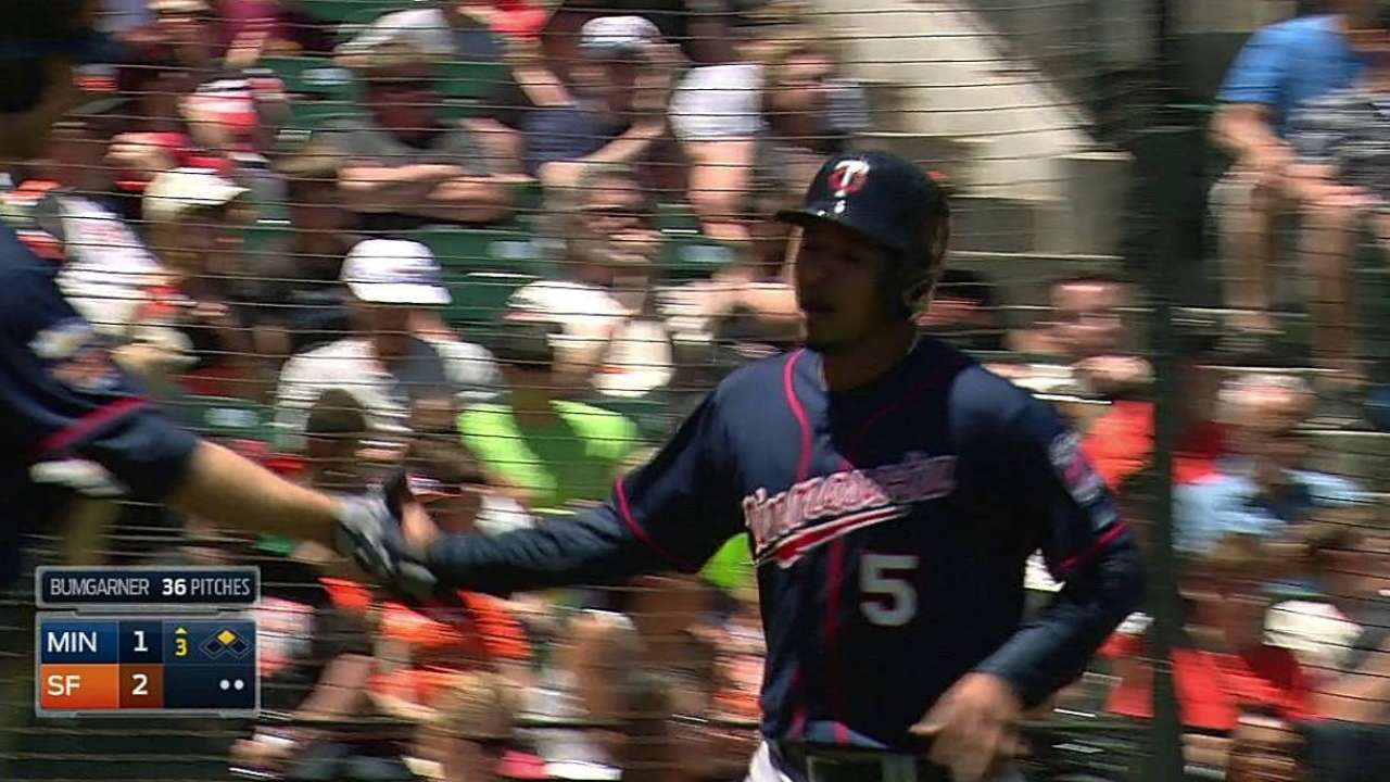 Twins fall in finale behind Nolasco's rough start
