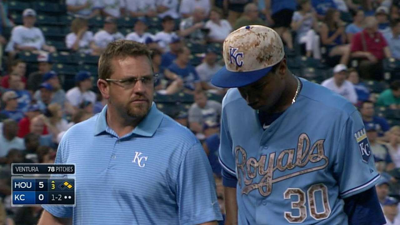 Ventura, Royals pleased with clean MRI results