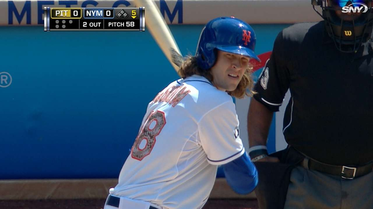 Collins bats Mets pitcher deGrom eighth