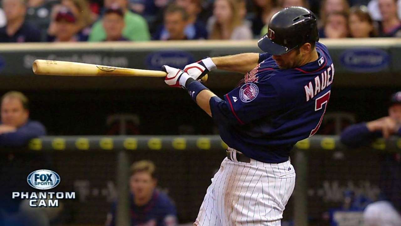 Gardenhire sees Mauer hitting ball hard