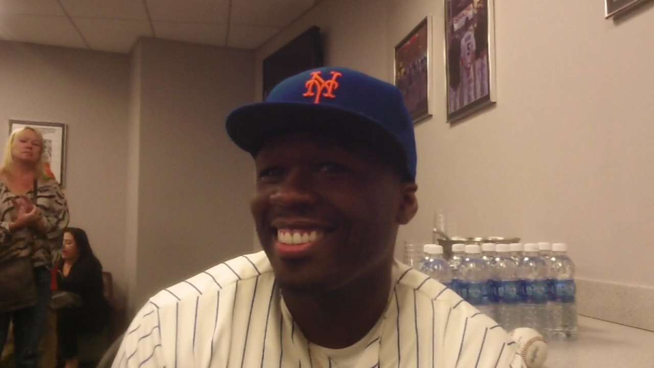 50 Cent on his first pitch