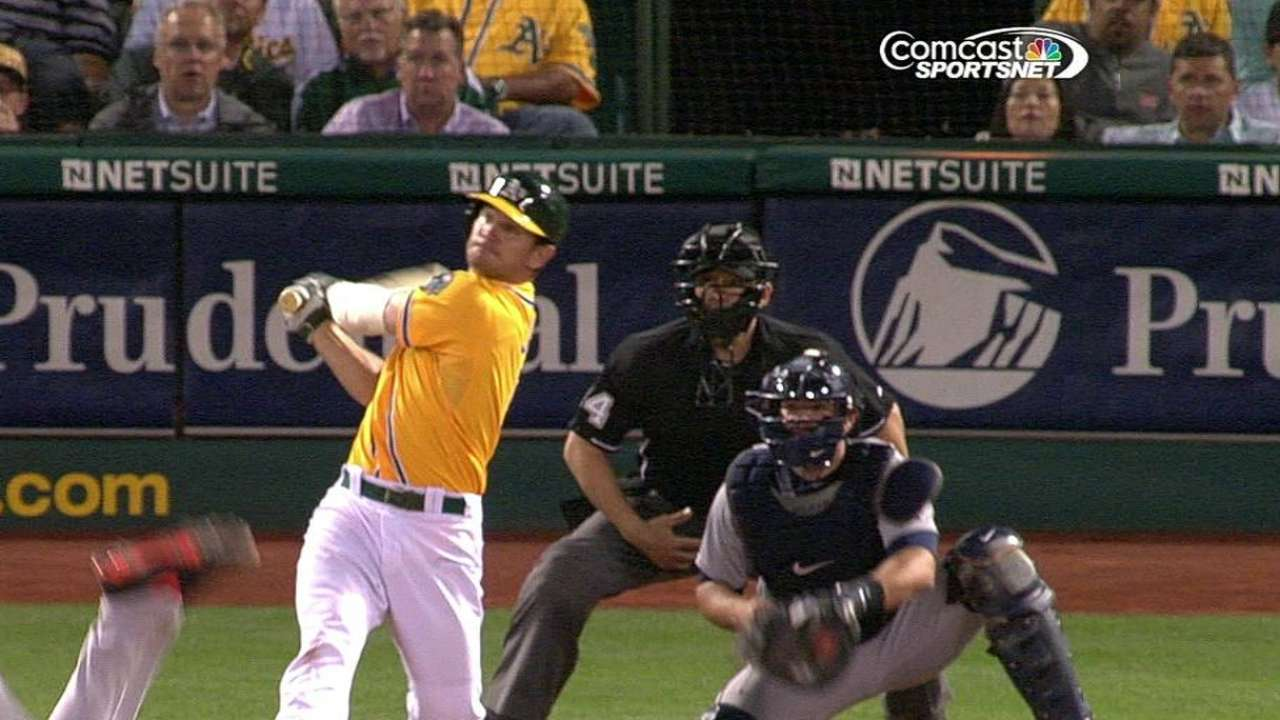 A's beaten late, drop fifth of last six games