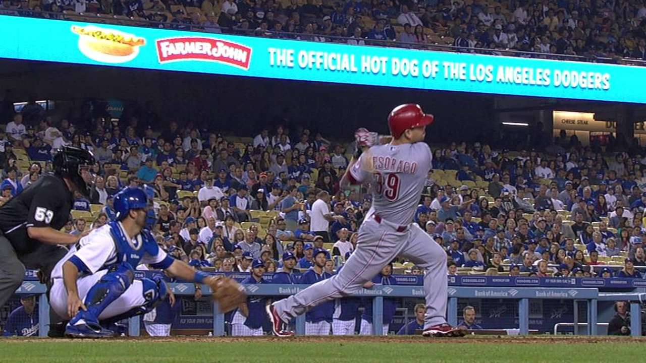 Reds get to Greinke too late in fourth straight loss