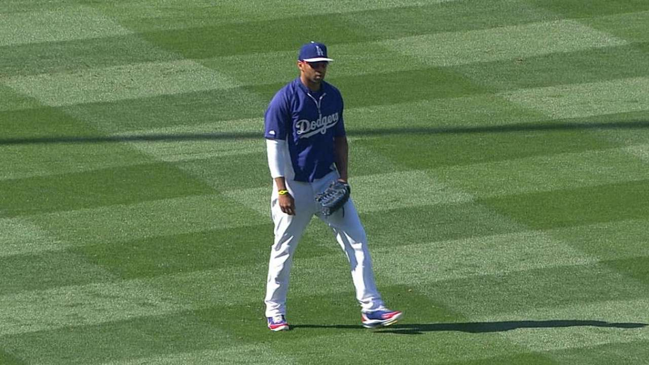 Kemp's transition to left field continues