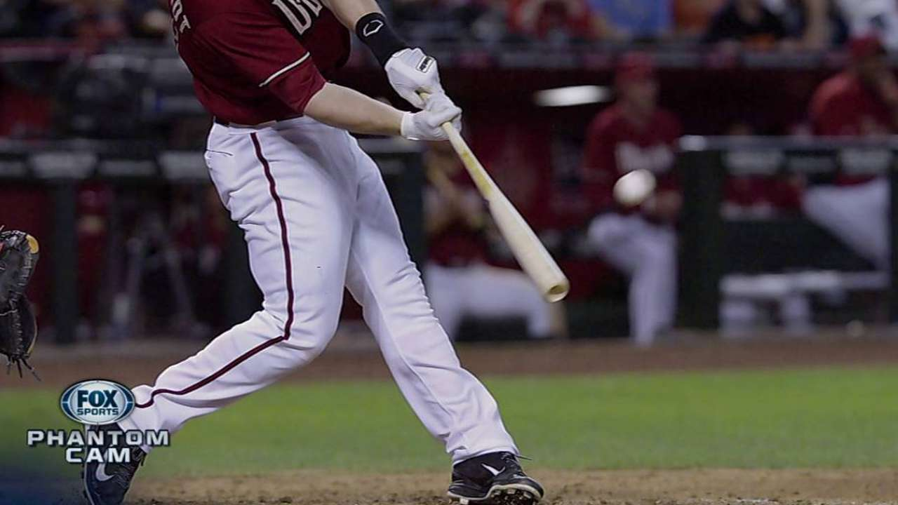 Goldy's blast targets his image on scoreboard