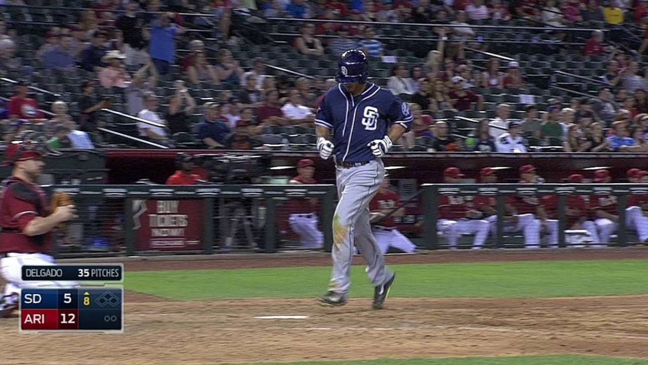 Medica flirts with cycle as Padres drop finale