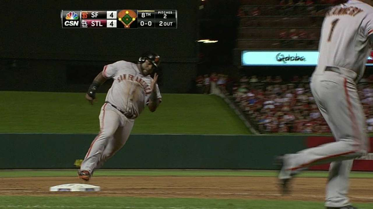 Morse's timely hit pushes Giants past Cardinals