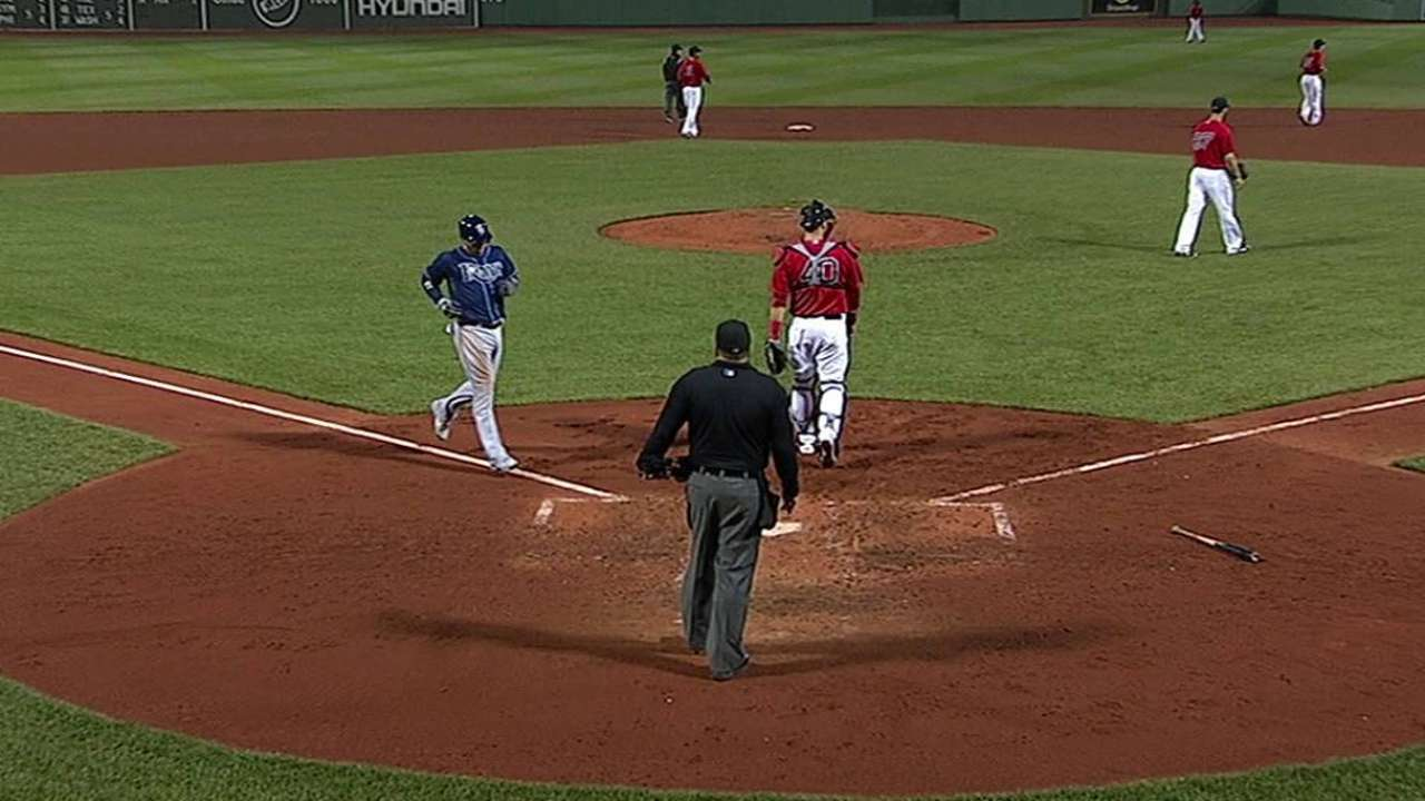 DeJesús pega 2 hits pero Rays caen con Boston