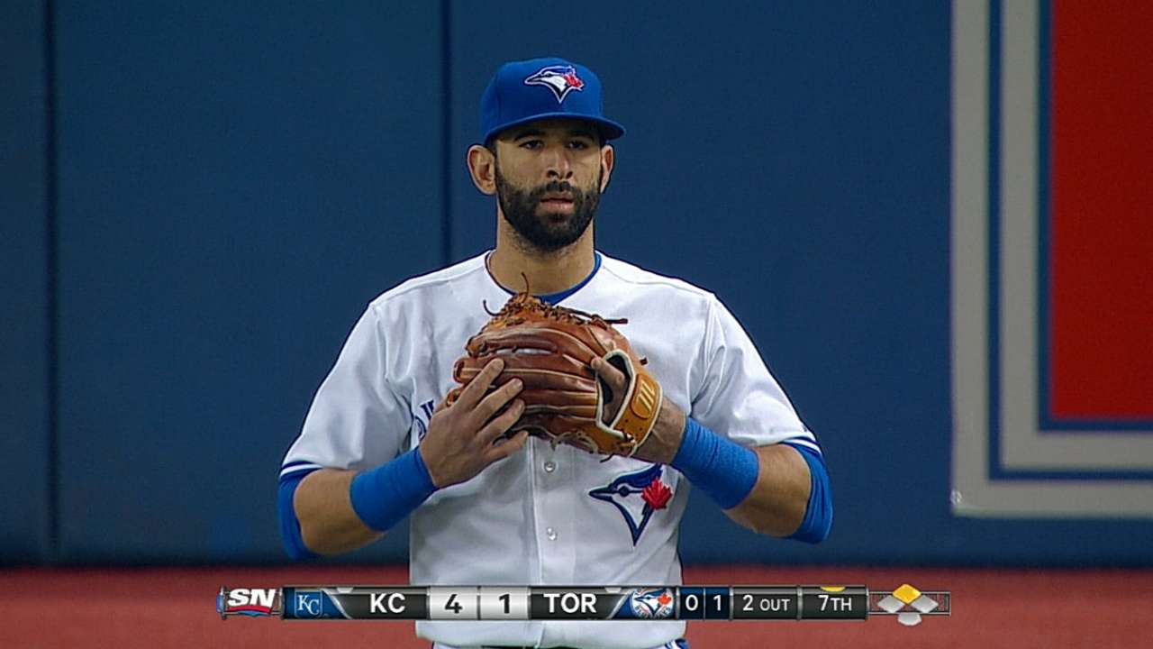 Bautista nabs his second Royal at first base