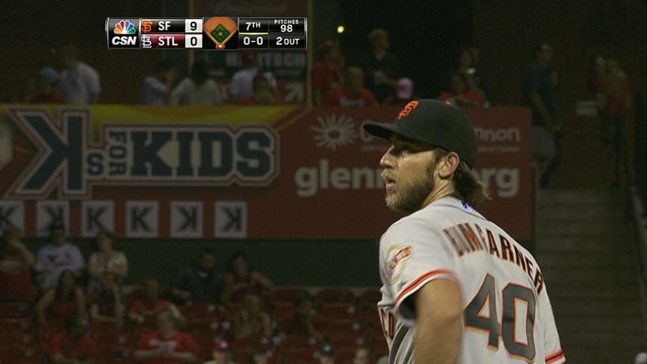Bumgarner rewarded for undefeated May