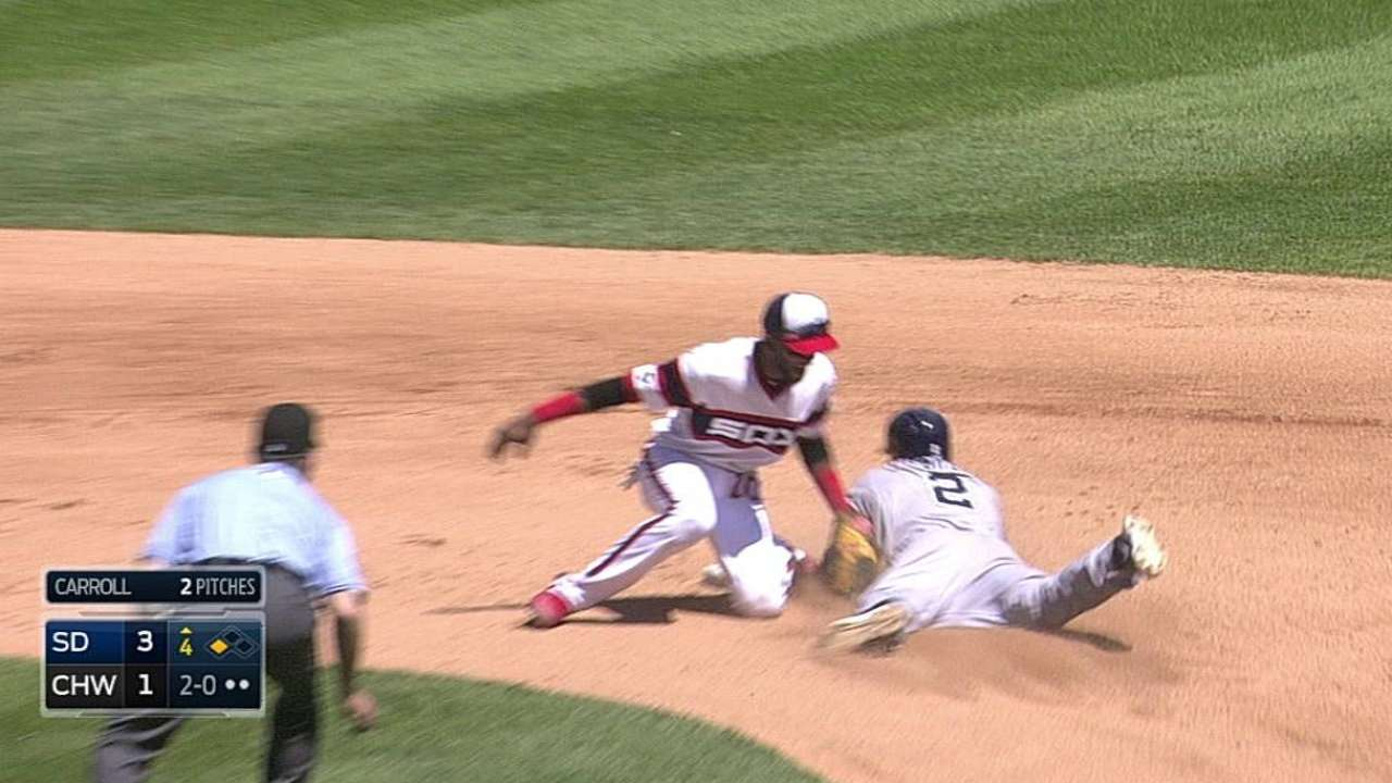 Padres unsuccessful with challenge on steal attempt