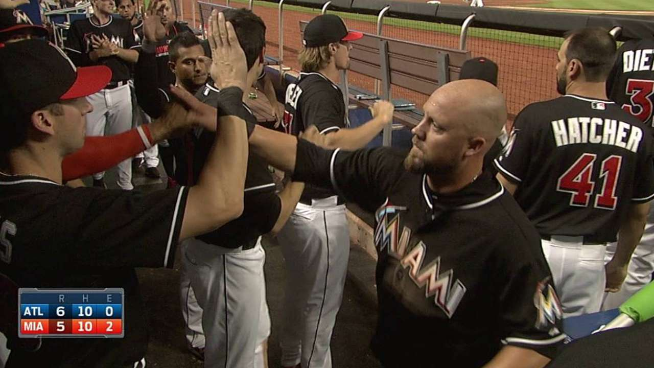 Down five, Marlins can't complete comeback