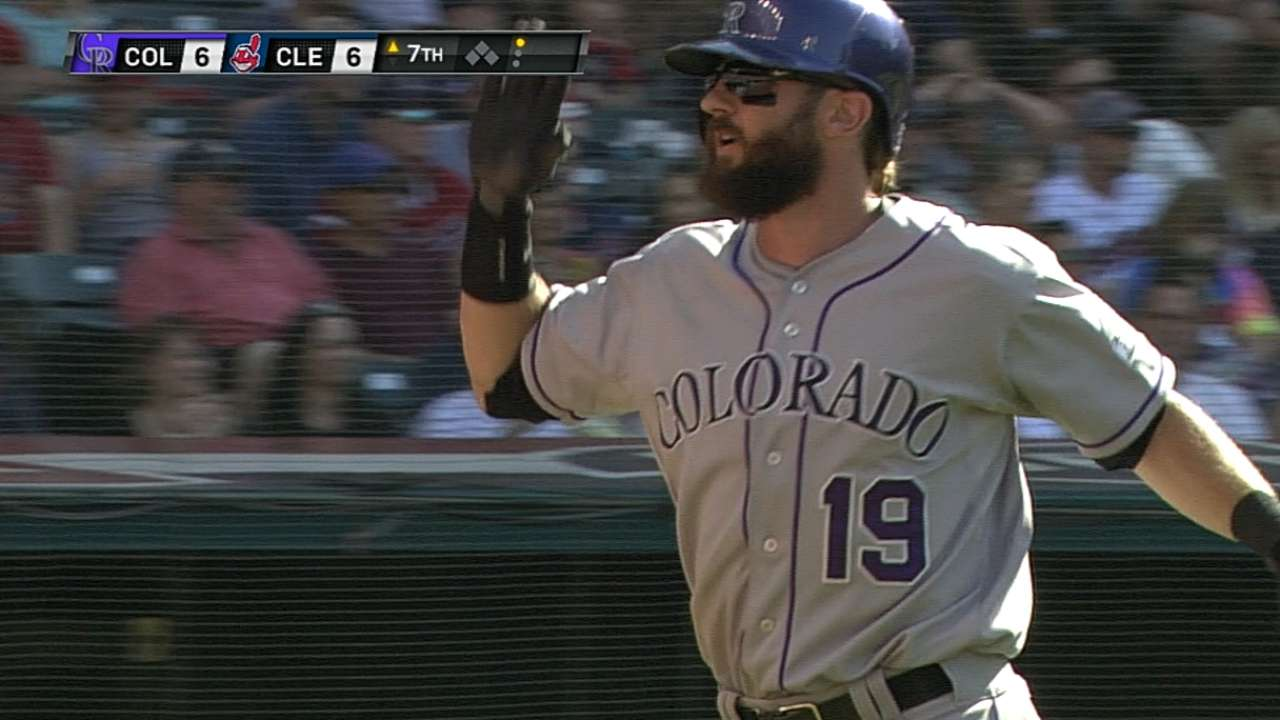Rockies' road struggles continue in Cleveland