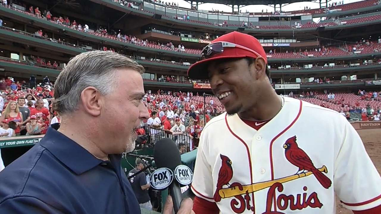 Patience rewarded: Taveras makes MLB debut, homers