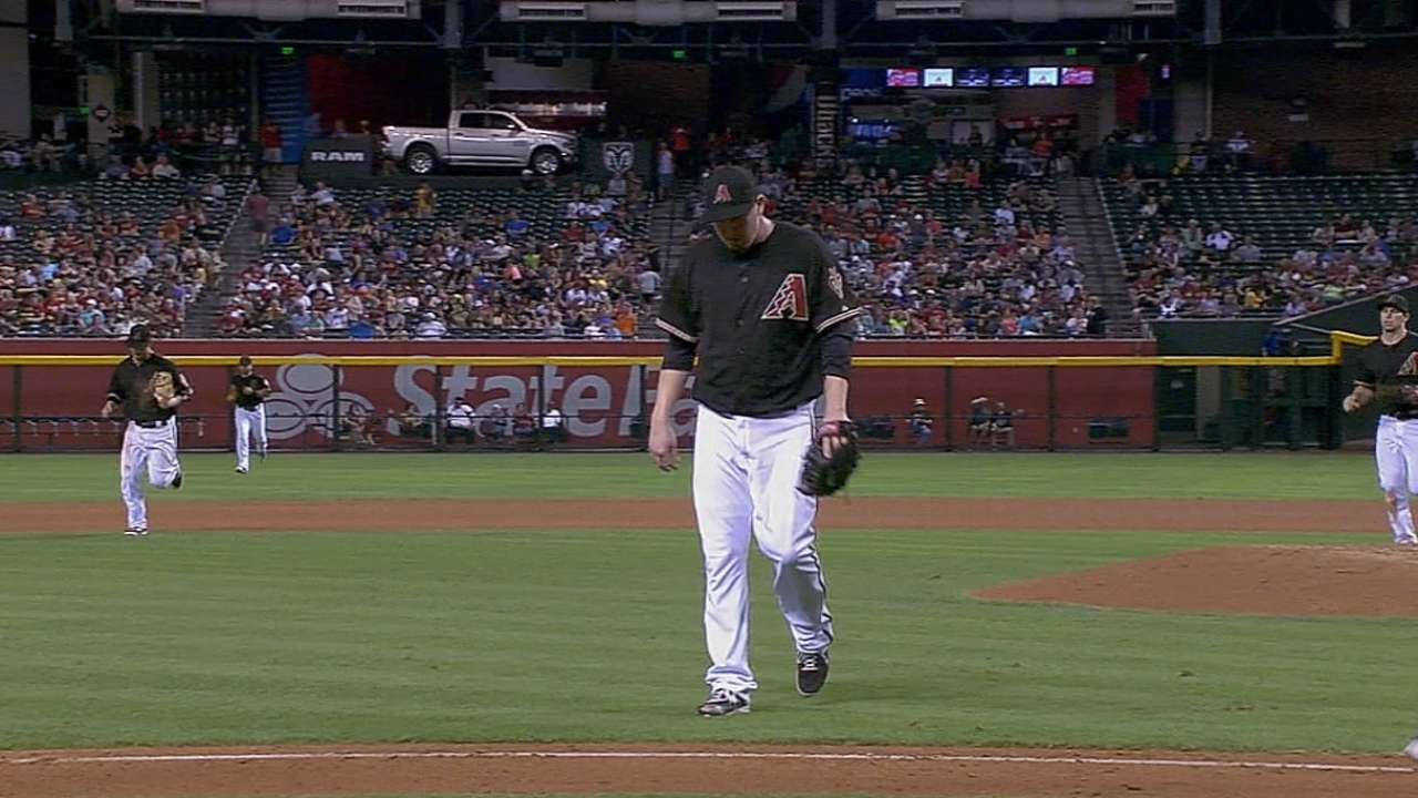 D-backs designate struggling Cahill for assignment