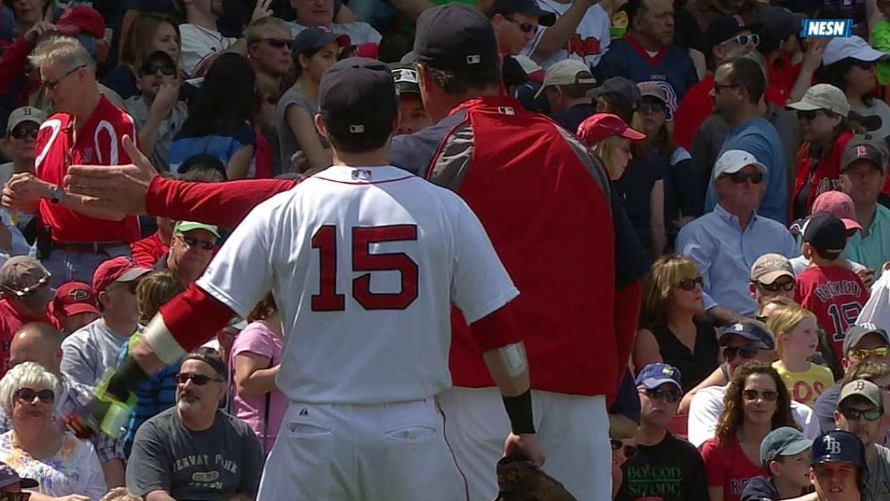 Pedroia ejected in finale for arguing balls, strikes