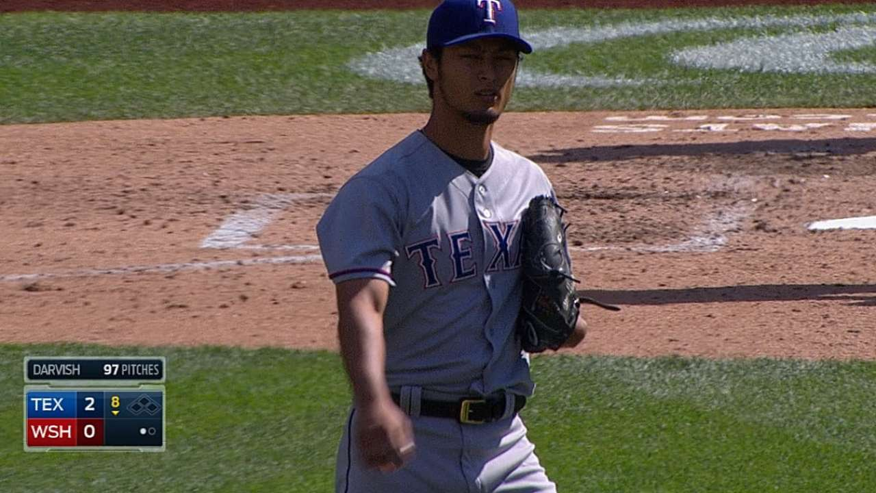 Rangers adjust to keep Yu on regular rest