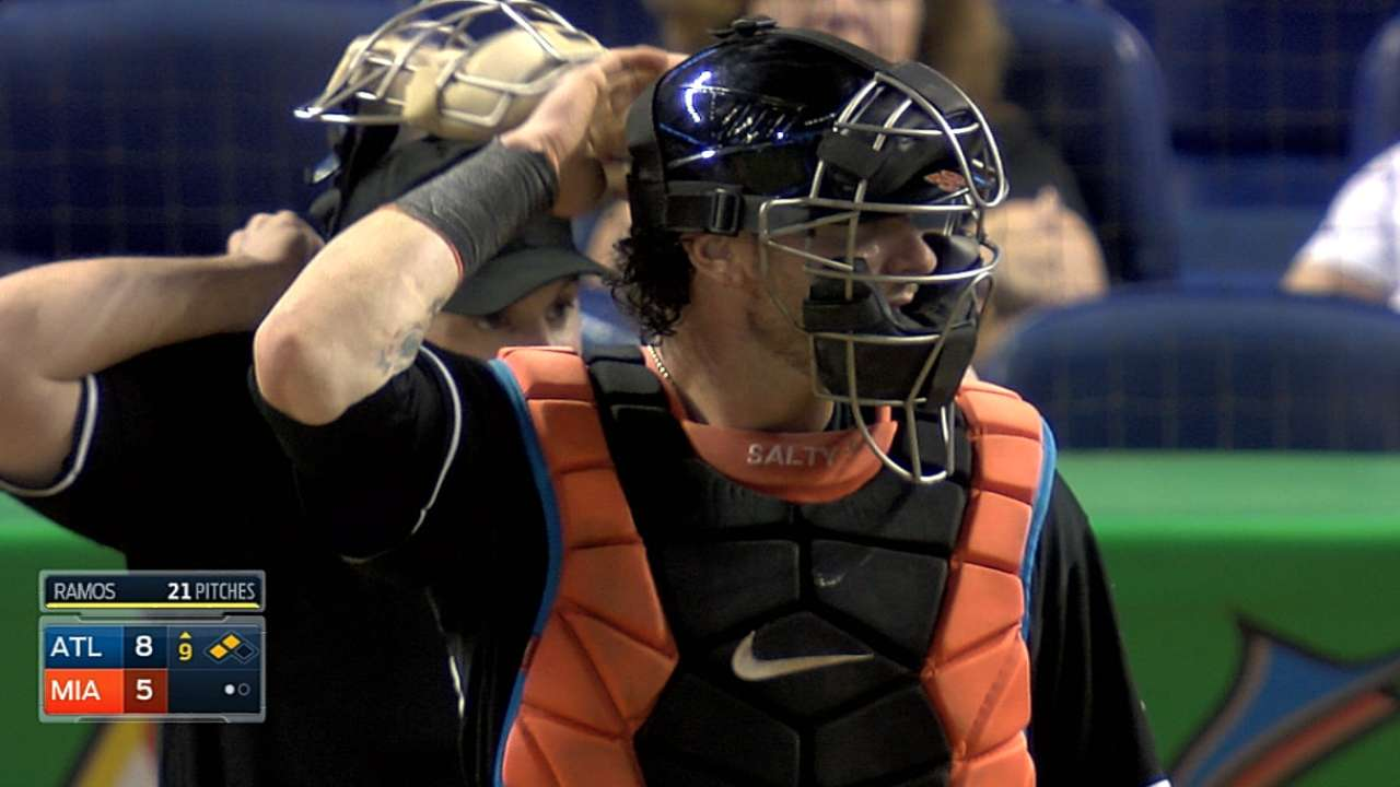 Marlins place Salty on seven-day concussion DL
