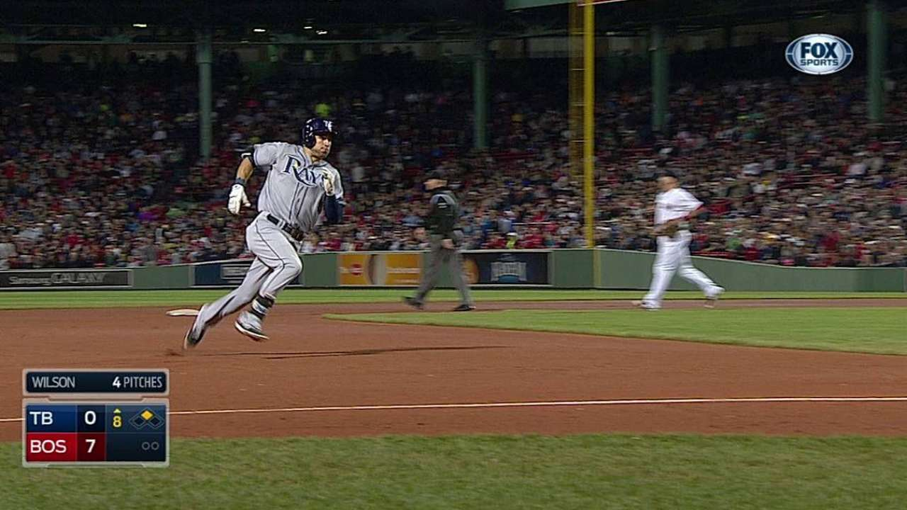 Rays' slide continues with loss to Red Sox