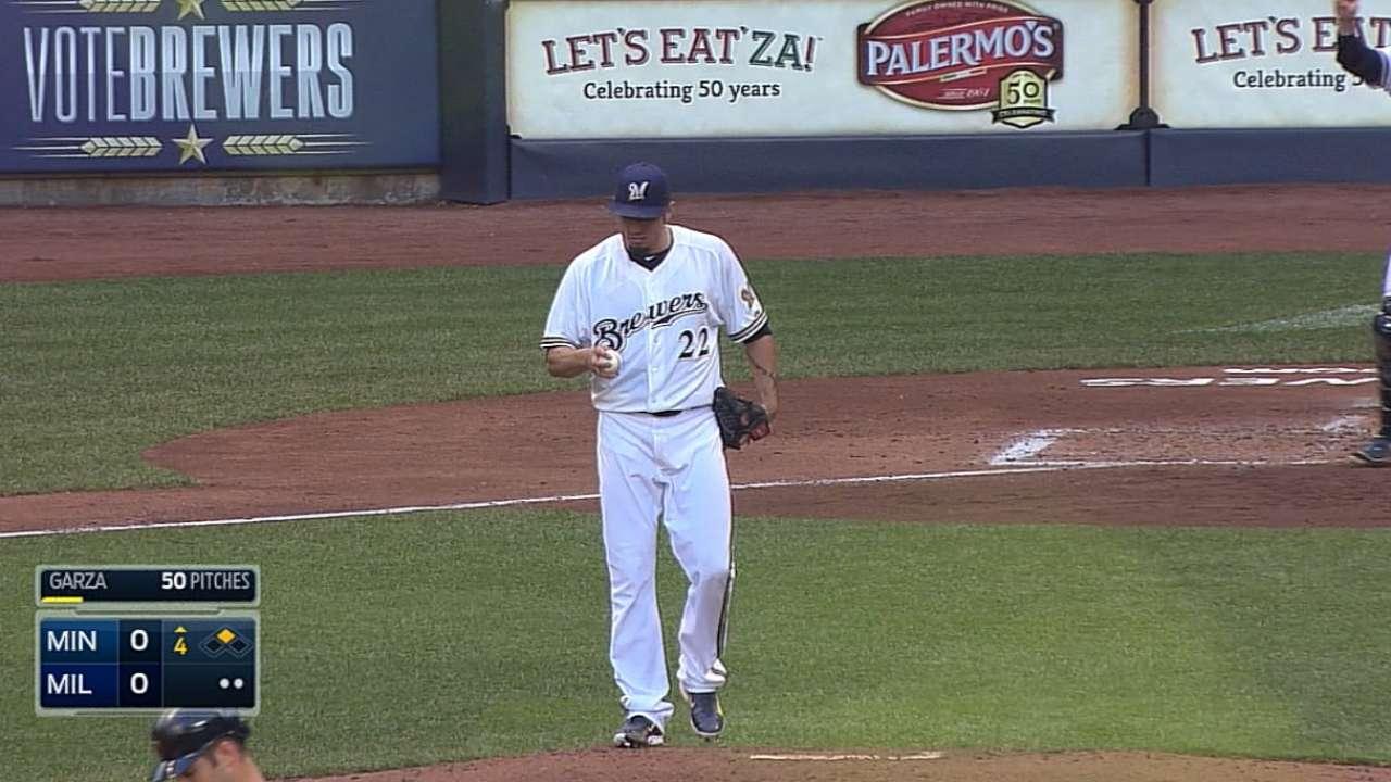 Reynolds, Lucroy homer to back impressive Garza