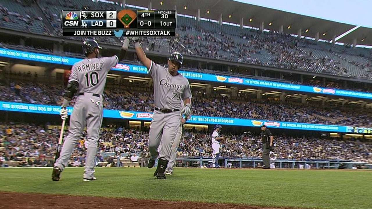Abreu, Puig reunite as opponents in Los Angeles