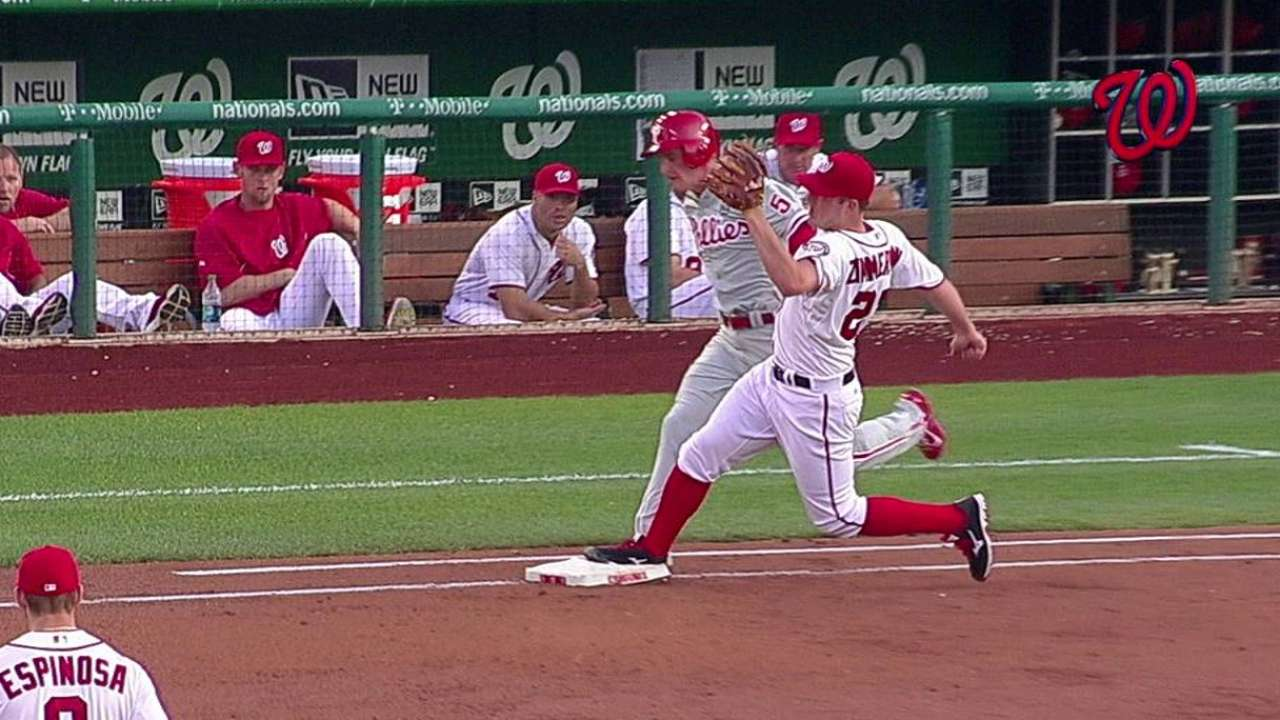 Nats win challenge on overturned call at first