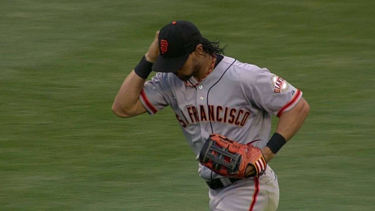 Giants hold off on Pagan resuming action