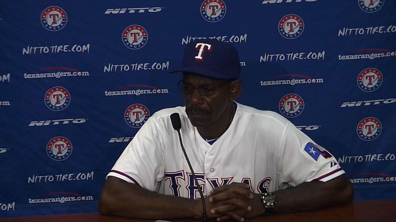 Rangers shut Ogando down for three weeks