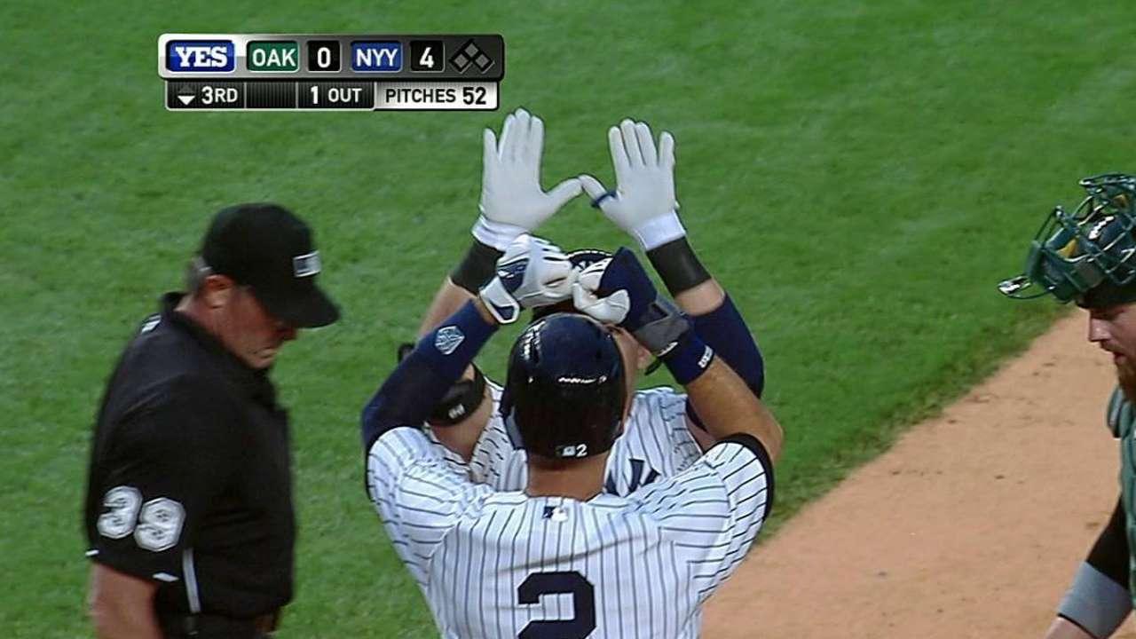 Yankees dejan escapar ventaja tempranera vs. Oakland