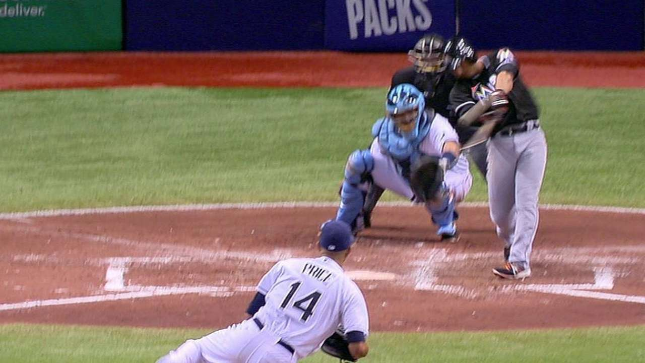 Marlins hold off Rays in game of key miscues