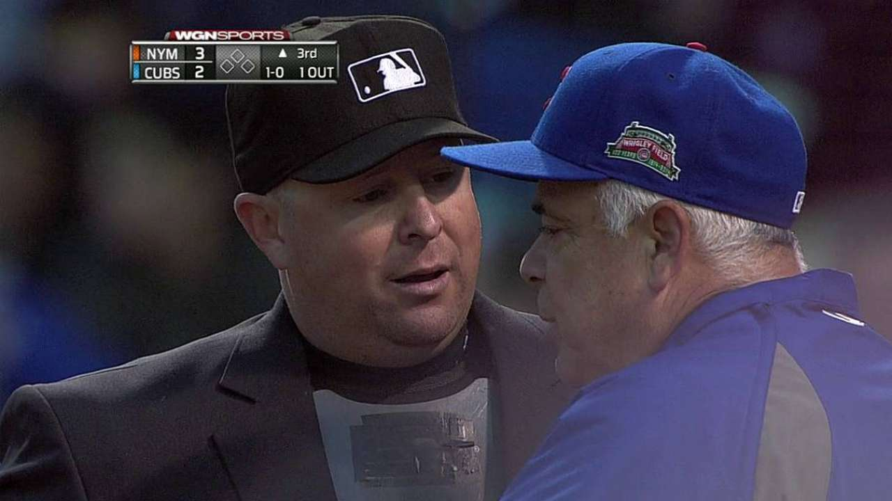 Renteria ejected for arguing balls and strikes
