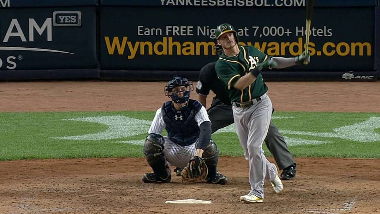 Power on: A's rally, roll to fifth straight victory