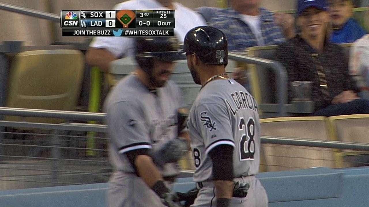 White Sox se llevan serie en L.A. con HR de García