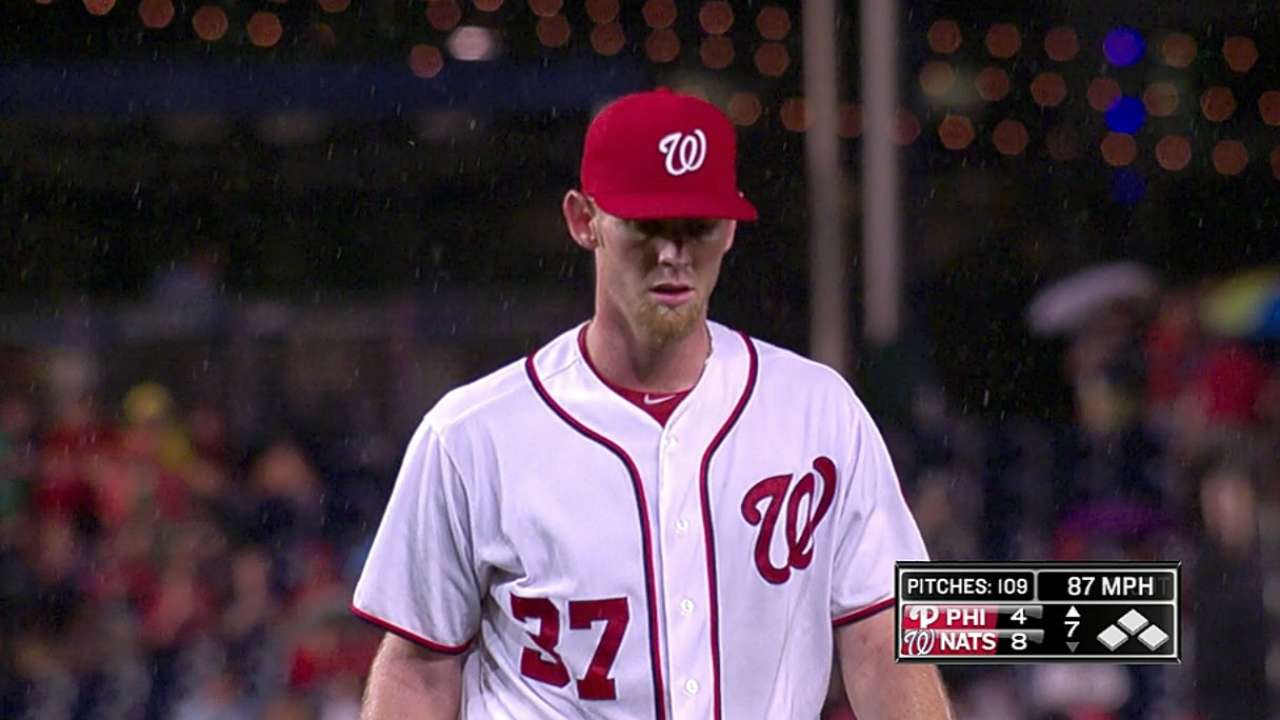 Get a whiff of this: Strasburg fans 11 in seven innings