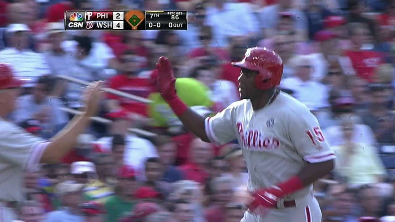 Rough fifth, lack of offense sink Kendrick, Phillies