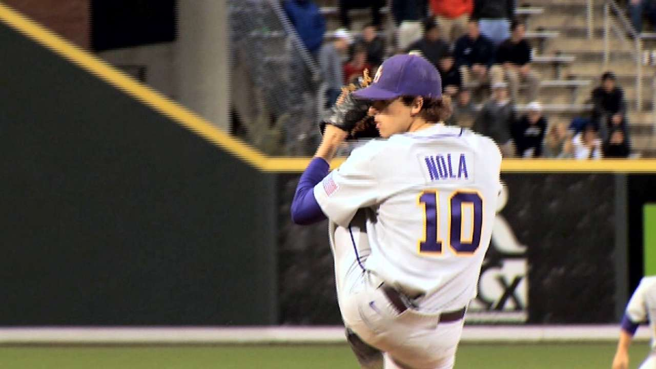 Nola, Phils' top pick, poised for pro debut