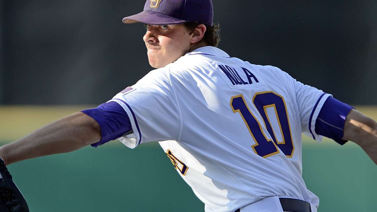 Phillies select LSU righty Nola with No. 7 pick