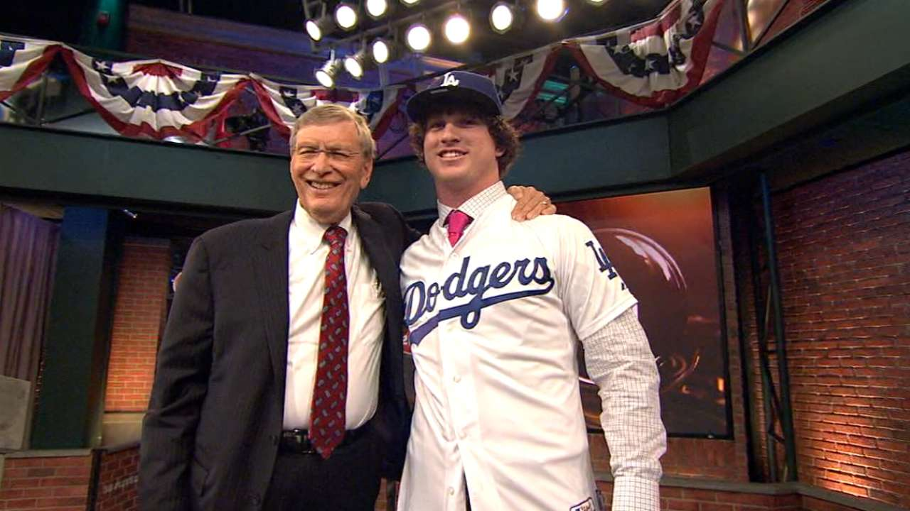 First-round pick Holmes visits Dodger Stadium