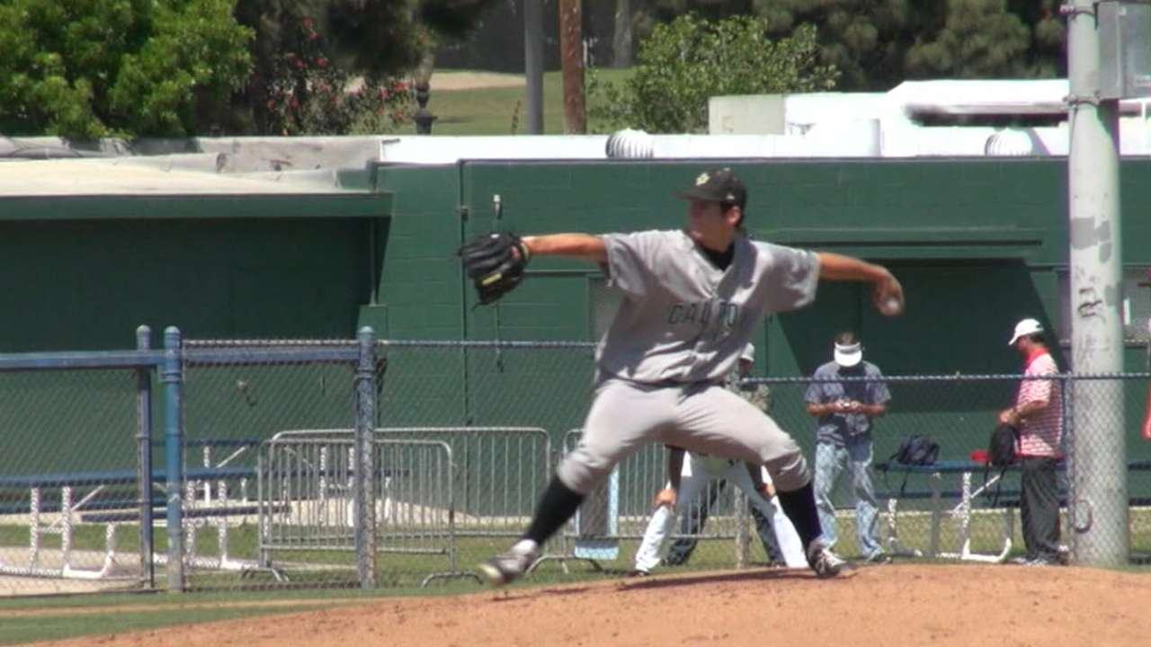 Phils take hard-throwing college lefty Imhof
