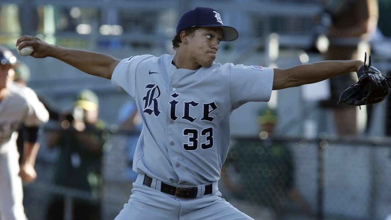 Rice righty Lemond highlights Day 2 of Padres' Draft