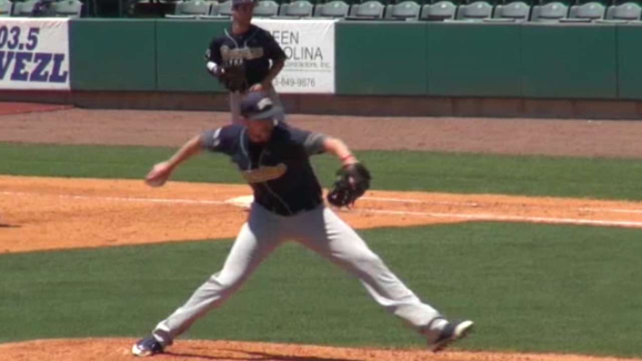 Big right-hander Povse goes to Braves in third round